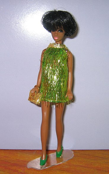 Green & Gold Eyelash Mini + Purse