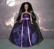 Deep Purple ballgown with purse