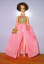 Euro Gold & Pink Ballgown + Purse
