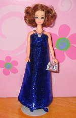 Micro Eyelash Royal Blue Gown + purse