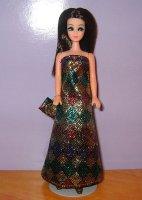 Diamond Mardi Gras Gown with purse