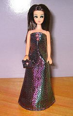 Pink & Green 2 tone gown with purse