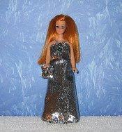 Micro Eyelash Silver Gown + purse