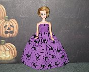 Sparkle CAT Ballgown with cat purse