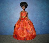 Jack O Lantern Ballgown with purse (lined)