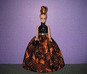 Pumpkins & Cats ballgown with purse