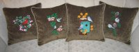 *4 bird seasonal set of pillows Example
