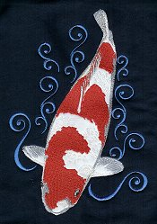 Big Kohaku with swirls Larger Design
