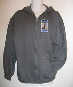 Men's GREY hooded XLARGE jacket w/zip