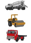 Heavy Equipment --Cement, roller, delivery