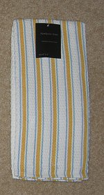 Kitchen stripe towel gold & blue