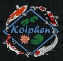 4 koi with Diamond frame & small lily--Koiphen