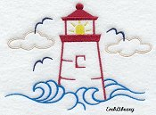 Lighthouse Graphic (big) --great for towels