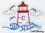 Lighthouse graphic (small)--great for handtowels