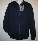 Men's NAVY Sweat hooded MEDIUM jacket w/zip