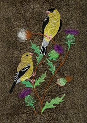Spring Goldfinches